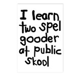 I Learn Two Spel Gooder At Pu Postcards (Package o
