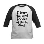 I Learn Two Spel Gooder At Pu Kids Baseball Jersey
