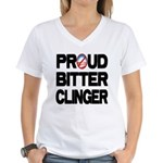 Proud Bitter Clinger Women's V-Neck T-Shirt