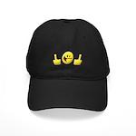 Smiley Fingers Black Cap