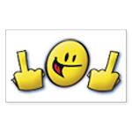 Smiley Fingers Rectangle Sticker 10 pk)