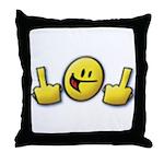 Smiley Fingers Throw Pillow