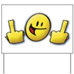Smiley Fingers Yard Sign