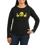 Smiley Fingers Women's Long Sleeve Dark T-Shirt