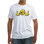 Smiley Fingers Fitted T-Shirt