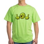 Smiley Fingers Green T-Shirt