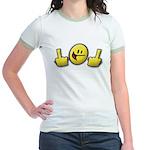 Smiley Fingers Jr. Ringer T-Shirt