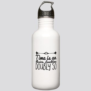 Time is an illusion. L Stainless Water Bottle 1.0L