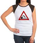 Cliff Warning Sign Women's Cap Sleeve T-Shirt