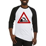Cliff Warning Sign Baseball Jersey