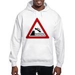 Cliff Warning Sign Hooded Sweatshirt