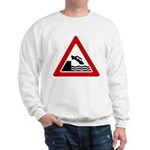 Cliff Warning Sign Sweatshirt