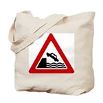 Cliff Warning sign - Tote Bag