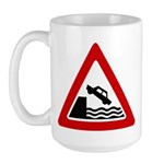 Cliff Warning sign - Large Mug