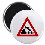"Cliff Warning sign - 2.25"" Magnet (10 pack)"