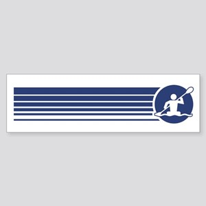Retro Kayaking Bumper Sticker