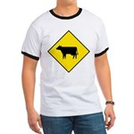 Cattle Crossing Sign Ringer T
