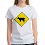 Cattle Crossing Sign Women's T-Shirt