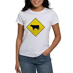 Cattle Crossing Sign Women's T-Shirt