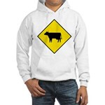 Cattle Crossing Sign Hooded Sweatshirt