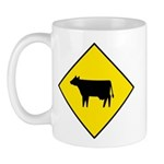 Cattle Crossing Sign - Mug