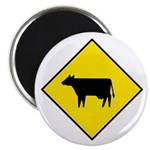 "Cattle Crossing Sign - 2.25"" Magnet (100 pack)"