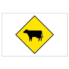 Cattle Crossing Sign - Posters
