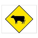 Cattle Crossing Sign - Small Poster