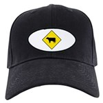 Cattle Crossing Sign - Black Cap