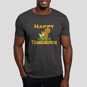 Thanksgiving Chipmunk Dark T-Shirt