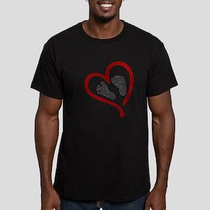 Baby Heart Feet Red T-Shirt