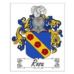 Rosa Family Crest Small Poster