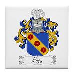 Rosa Family Crest Tile Coaster