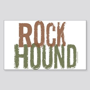 Rock Hound (Distressed) Sticker (Rectangle)