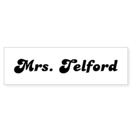 Mrs. Telford Bumper Sticker (10 pk)