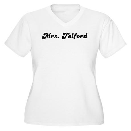 Mrs. Telford Women's Plus Size V-Neck T-Shirt