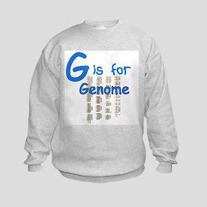 G is for Genome Kids Sweatshirt