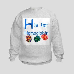 H is for Hemoglobin Kids Sweatshirt
