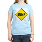 Warning - Bump Sign Women's Pink T-Shirt
