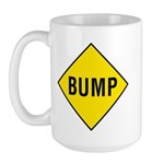 Yellow Bump Sign - Large Mug