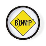 Yellow Bump Sign - Wall Clock
