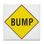 Yellow Bump Sign - Tile Coaster