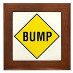 Yellow Bump Sign - Framed Tile
