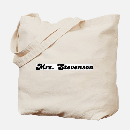 Mrs. Stevenson Tote Bag