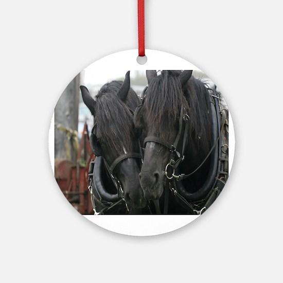 Percheron Draft Horses Ornament (Round)