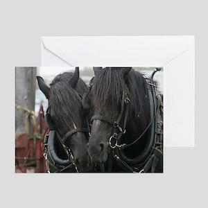 Percheron Draft Horses Greeting Card