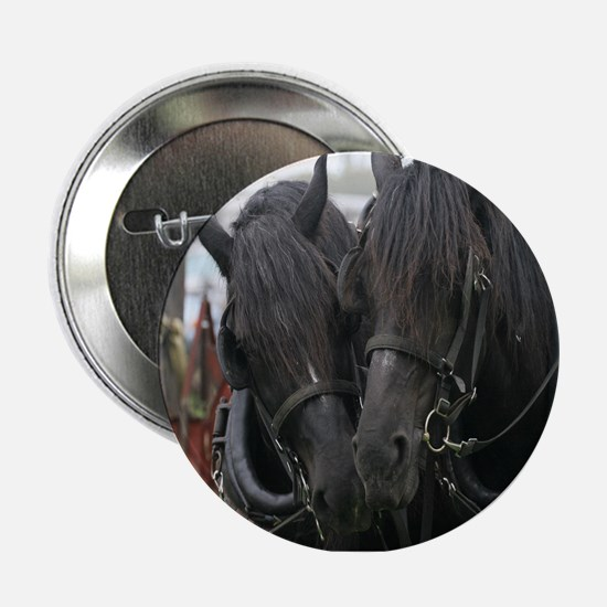 "Percheron Draft Horses 2.25"" Button"