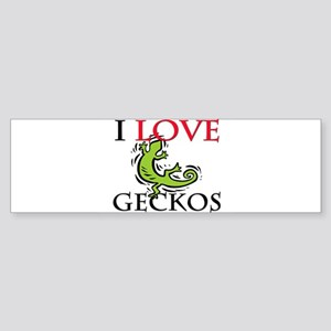 I Love Geckos Bumper Sticker