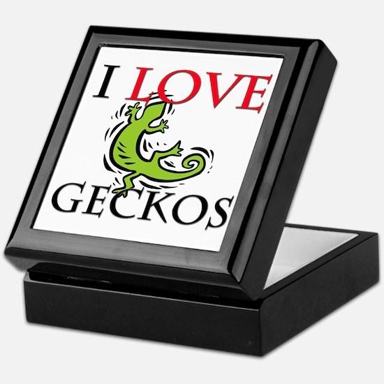 I Love Geckos Keepsake Box