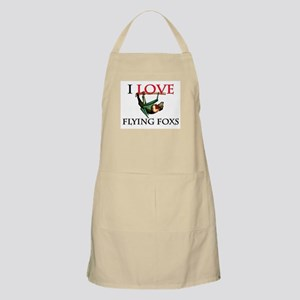 I Love Flying Foxs BBQ Apron